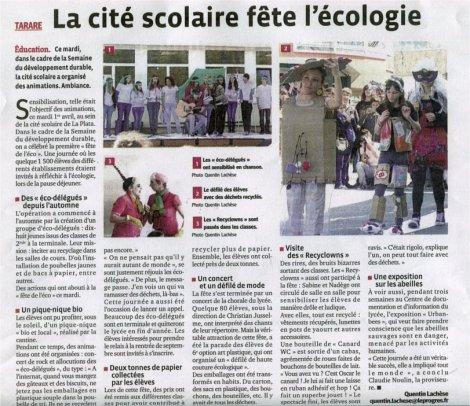 Fete eco lycée Tarare