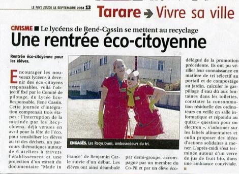 Recyclowns lycée tatare